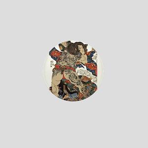 japanese tattoo warrior Samurai Mini Button