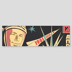soviet astronaut space propaganda Bumper Sticker