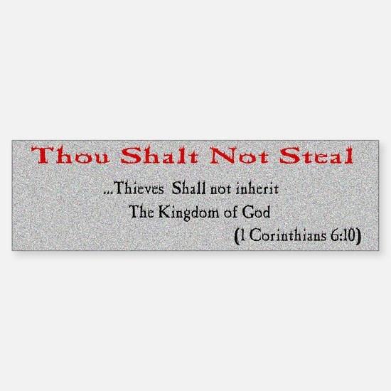 Thou Shalt not Steal Bumper Bumper Bumper Sticker