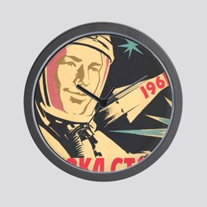 soviet astronaut space propaganda Wall Clock