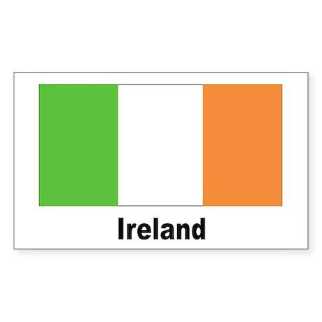 Ireland Irish Flag Rectangle Sticker