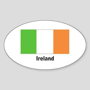 Ireland Irish Flag Oval Sticker