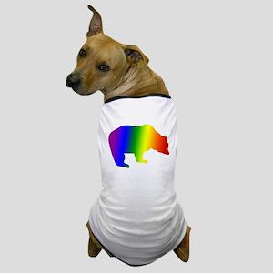 Rainbow Gay Pride Bear Dog T-Shirt