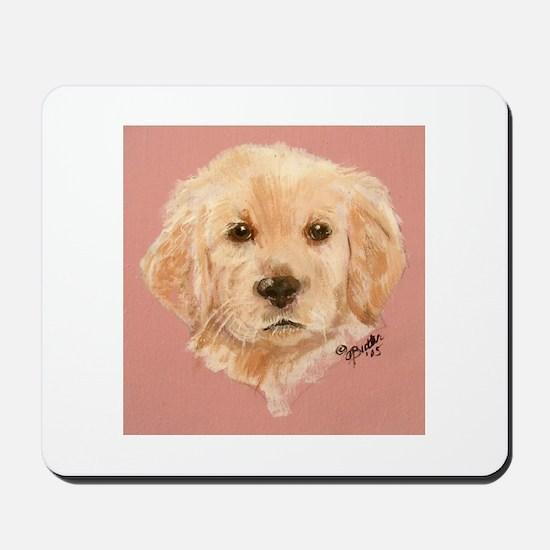 Golden Retriever Puppy 2 Mousepad