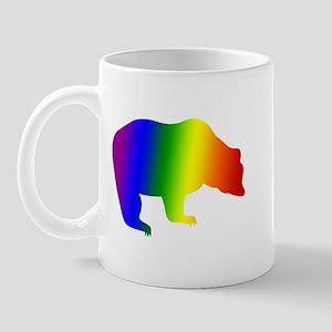 Rainbow Gay Pride Bear Mug