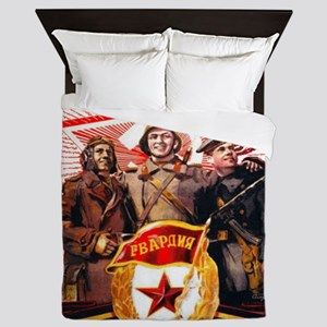 military soviet union propaganda Queen Duvet