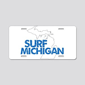 Surf Michigan Chipped Aluminum License Plate