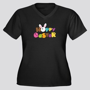 Hoppy Easter Funny Easter Day Plus Size T-Shirt