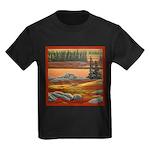 Polar Bear Art Kids Dark T-Shirt