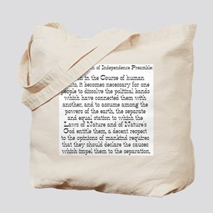 Preamble to Declaration  Tote Bag