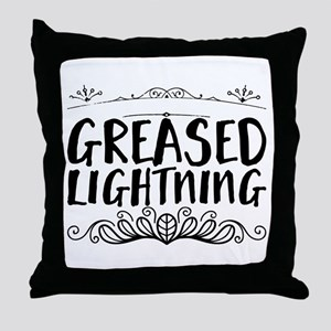 greased lightning Throw Pillow