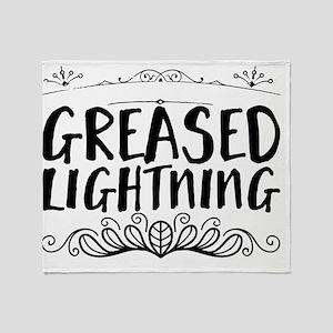 greased lightning Throw Blanket