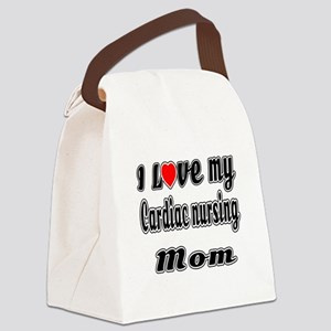 I Love My CARDIAC Nusing Mom Canvas Lunch Bag