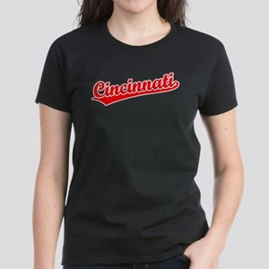 Retro Cincinnati (Red) Women's Dark T-Shirt