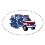 EMS Ambulance Sticker (Oval 50 pk)