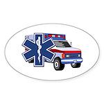 EMS Ambulance Sticker (Oval 10 pk)