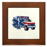 EMS Ambulance Framed Tile