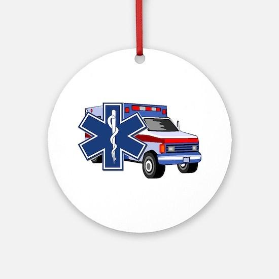 EMS Ambulance Ornament (Round)