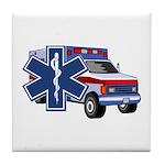 EMS Ambulance Tile Coaster