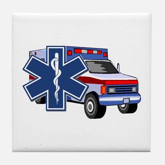 EMS Ambulance Tile Coaster