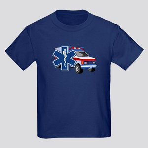EMS Ambulance Kids Dark T-Shirt