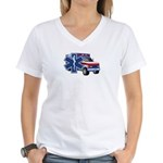 EMS Ambulance Women's V-Neck T-Shirt