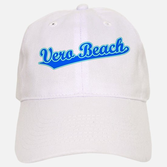 Retro Vero Beach (Blue) Baseball Baseball Cap