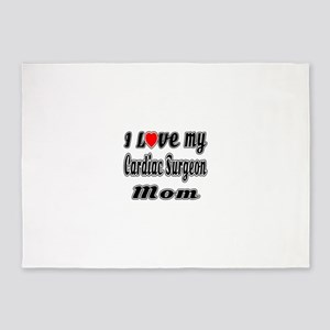 I Love My CARDIAC SURGEON Mom 5'x7'Area Rug