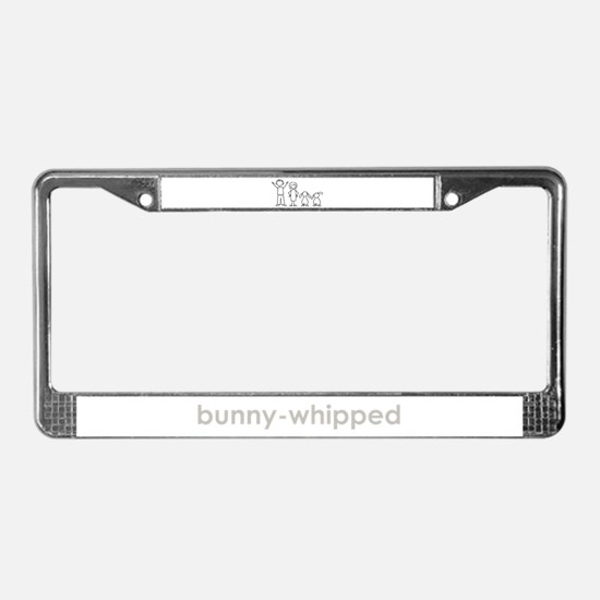 2 lop bunnies family License Plate Frame
