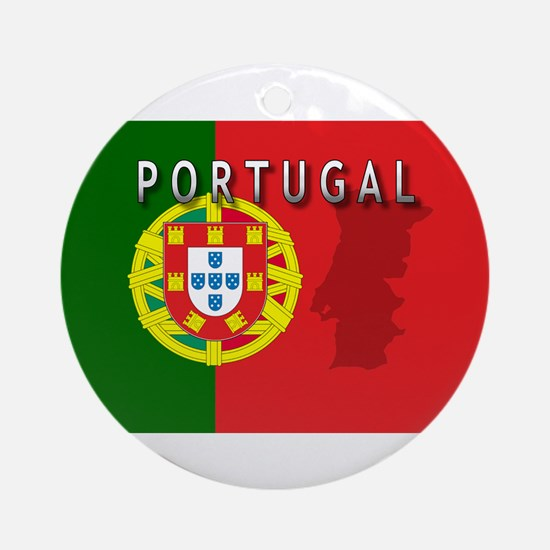 Portugal Flag Extra Ornament (Round)
