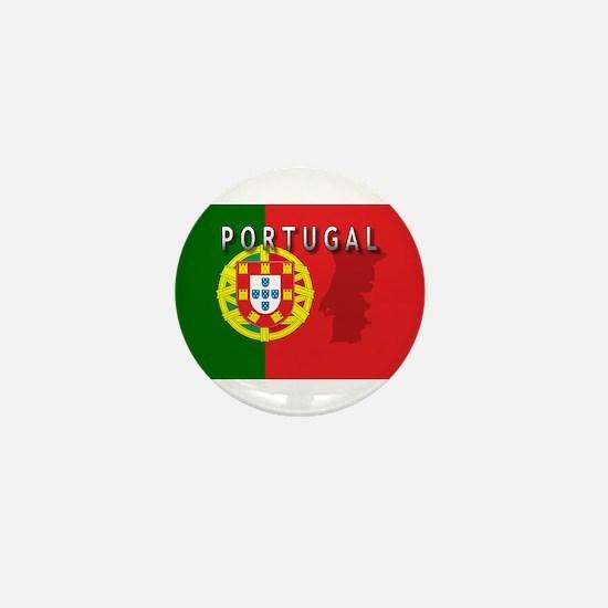 Portugal Flag Extra Mini Button