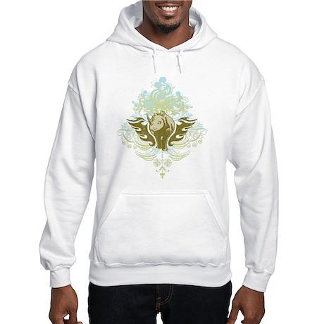 Stylized Rhinoceros Hooded Sweatshirt