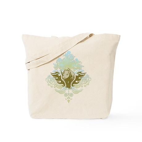 Stylized Rhinoceros Tote Bag