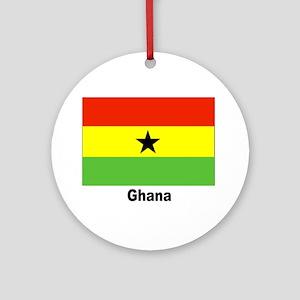 Ghana Flag Keepsake (Round)