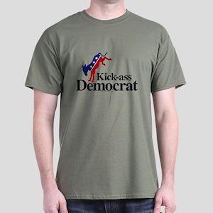 Kick-Ass Democrat Men's Dark T-Shirt