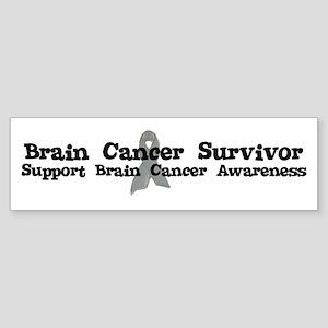 BRAIN CANCER SURVIVOR Bumper Sticker