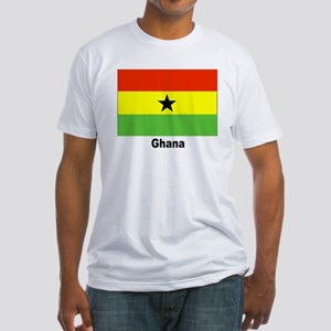 Ghana Flag (Front) Fitted T-Shirt