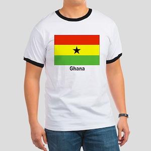 Ghana Flag (Front) Ringer T