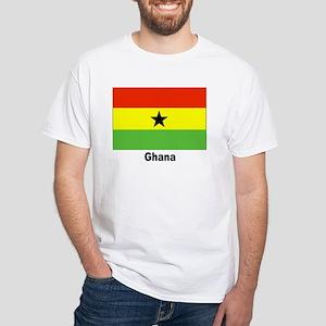 Ghana Flag (Front) White T-Shirt