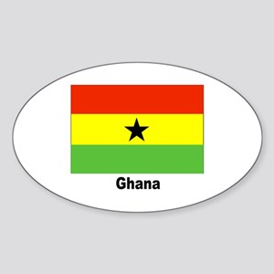 Ghana Flag Oval Sticker
