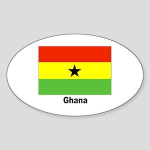 Ghana Flag Oval Sticker