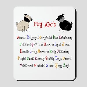 Pug ABC's Mousepad