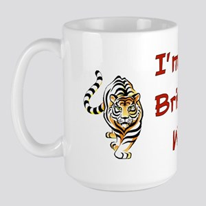 50th Birthday Tiger Large Mug