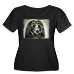 ...Dog 03... Women's Plus Size Scoop Neck Dark T-S