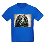 ...Dog 03... Kids Dark T-Shirt