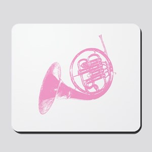 Pink French Horn Mousepad