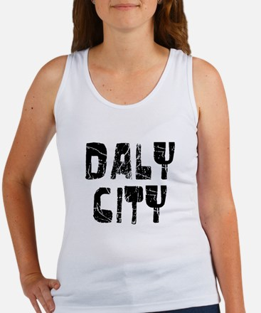 Daly City Faded (Black) Women's Tank Top
