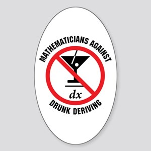 Drunk Deriving Oval Sticker