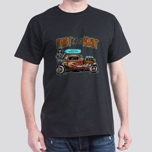 Rust is a Must Rat Rod Pinup Dark T-Shirt