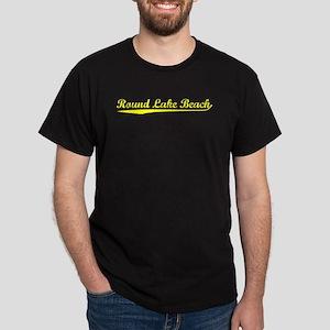 Vintage Round Lake.. (Gold) Dark T-Shirt
